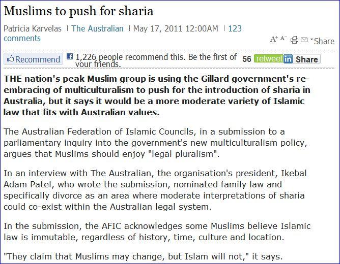 australian-muslims-push-for-sharia-17-5-20111