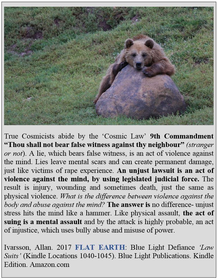 COSMIC LAW 9TH COMMANDMENT POSTER 2017 IMAGE 002