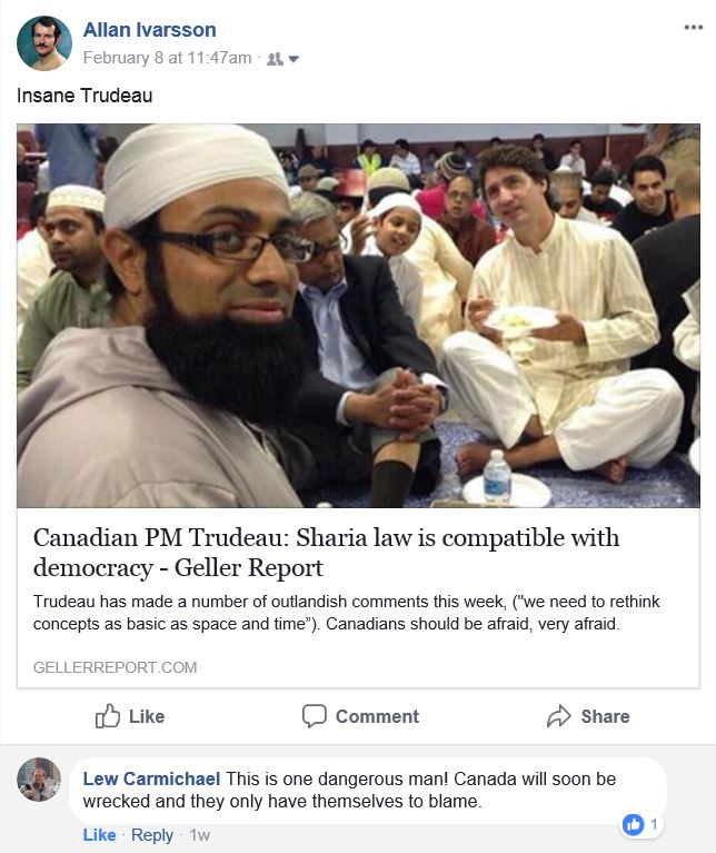 Trudeau submits to Islam 080218 with comment