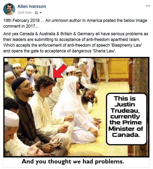 Trudeau submits to Islam 190218 001