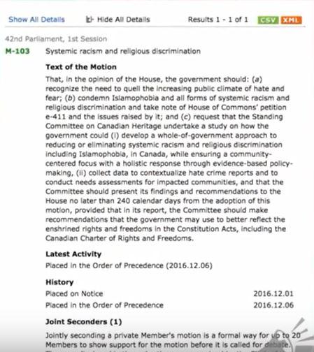 Blasphemy Law Proposal in Canada Dec 2016 001
