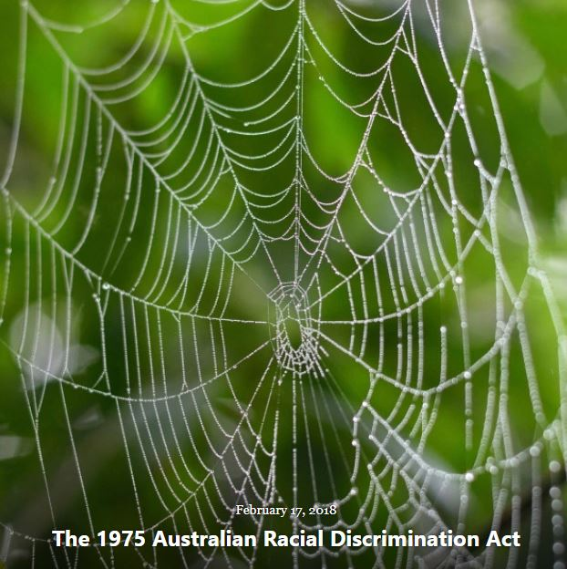 BLOG 1975 AUST RACIAL DISCRIMINATION ACT FEB 17 2018