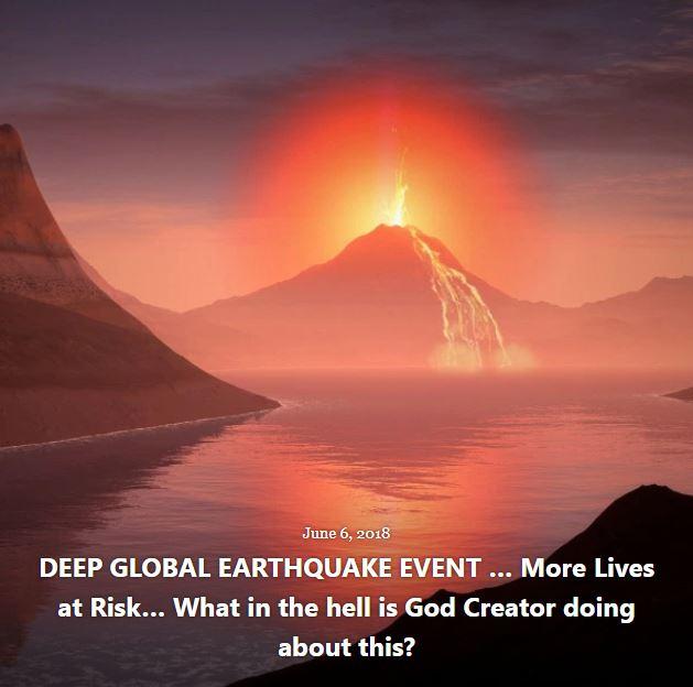 BLOG EARTHQUAKE EVENT JUNE 6 2018