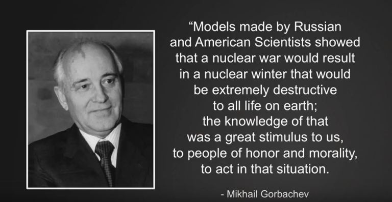 NUCLEAR WINTER QUOTE BY GORBACHEV