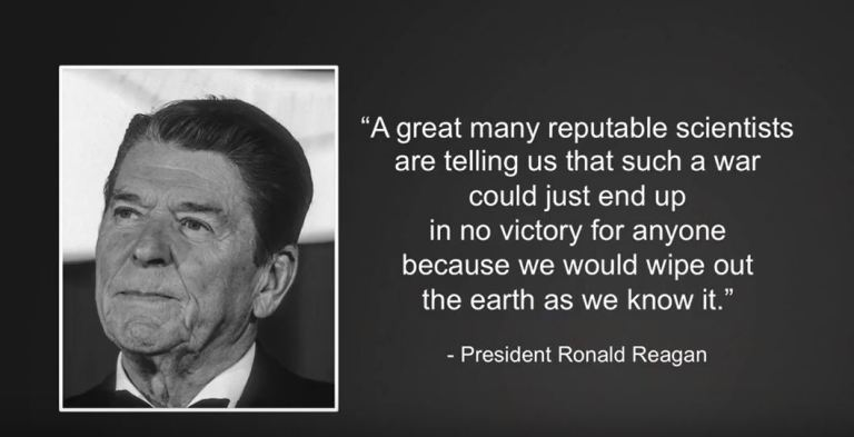 NUCLEAR WINTER QUOTE BY REAGAN