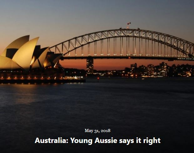 BLOG AUSTRALIA YOUNG AUSSIE MAY 31 2018
