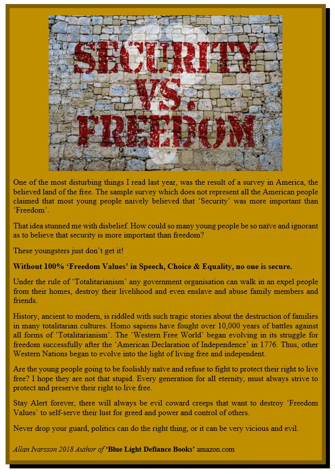 FREEDOM and SECURITY POSTER IMAGE 001