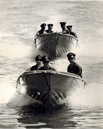 Dad S.A. Ivarsson Flood Rescue Training Course for Police on Sydney Harbour 1960's 001