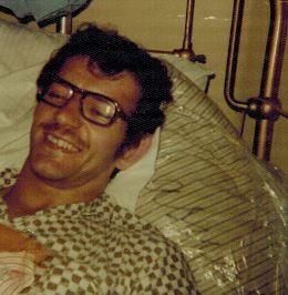 Nov 15 1975 me Allan Ivarsson Lewisham Hospital 'C' Ward with two broken legs