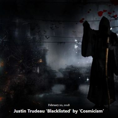 BLOG JUSTIN TRUDEAU BLACKLISTED FEB 20 2018