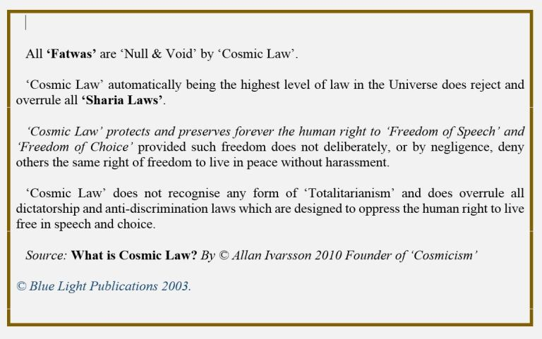 Cosmic Law 001
