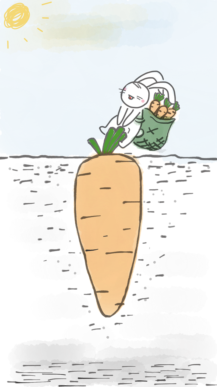 rabbit-pulling-carrot-2256824_1280