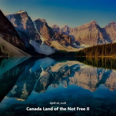 BLOG CANADA LAND NOT FREE II APRIL 26 2018
