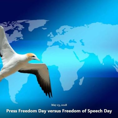 BLOG PRESS FREEDOM DAY V FREEDOM OF SPEECH DAY MAY 23 2018