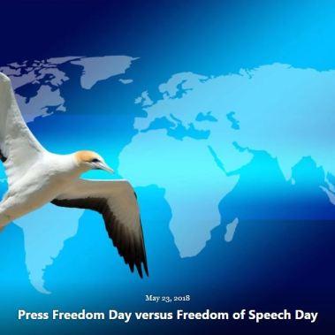 BLOG PRESS FREEDOM DAY V FREEDOM OF SPEECH DAY MAY 23 2018