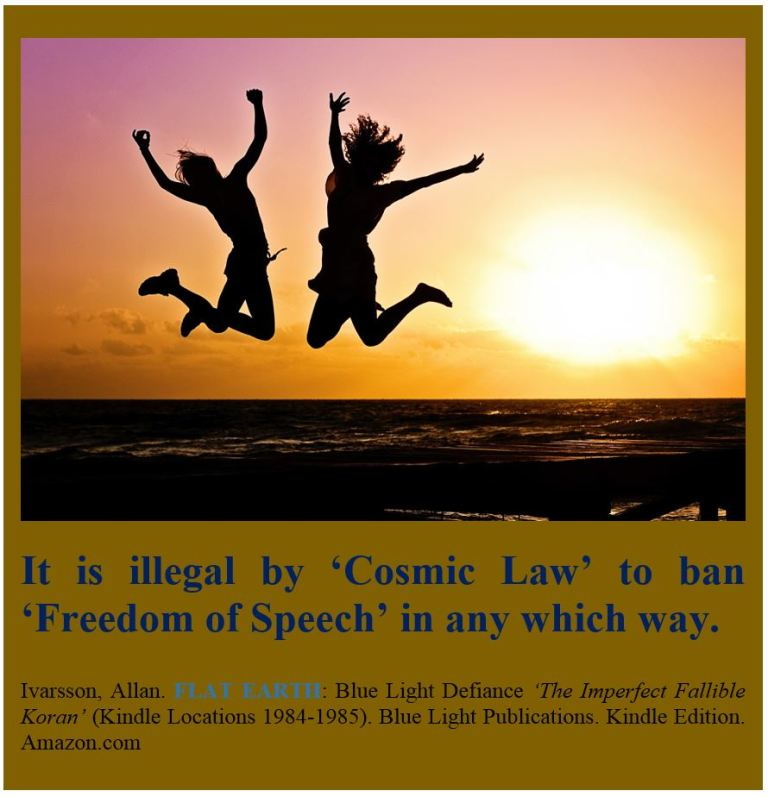 COSMIC LAW BANNING FREEDOM OF SPEECH IS ILLEGAL POSTER 2017 IMAGE 002