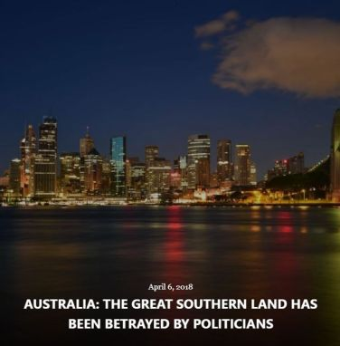 BLOG AUSTRALIA GREAT SOUTHERN LAND APRIL 6 2018