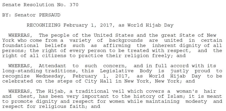HIJAB DAY SENATE RESOLUTION 2017 PAGE 1