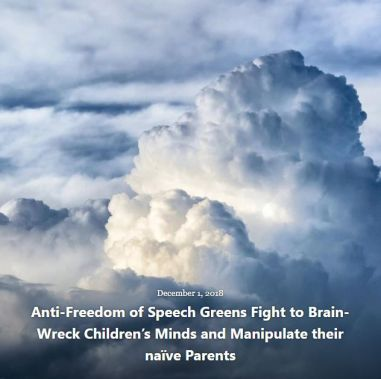 BLOG ANTI-FREEDOM GREENS FIGHT TO BRAIN-WRECK DEC 1 2018