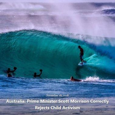 BLOG AUSTRALIA PM REJECTS CHILD ACTIVISM NOV 28 2018