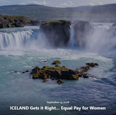 BLOG ICELAND GETS IT RIGHT EQUAL PAY SEP 14 2018