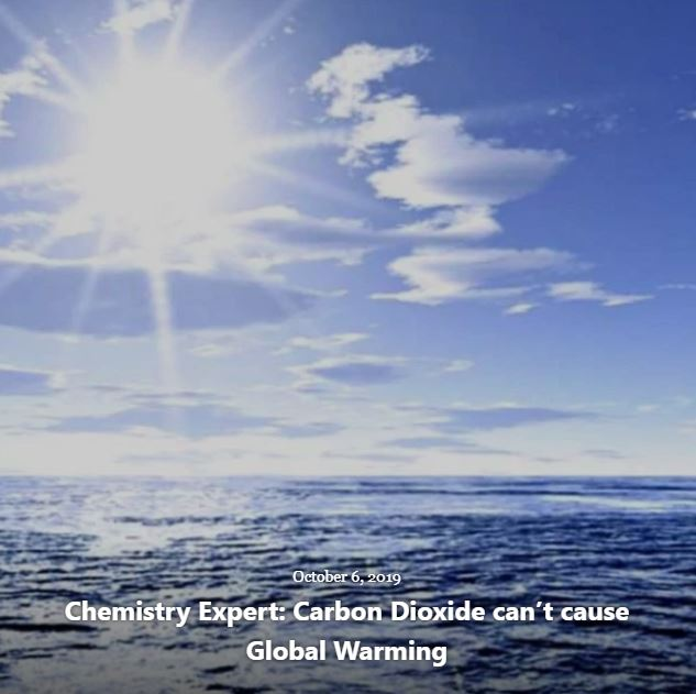 BLOG CHEMISTRY EXPERT GLOBAL WARMING OCT 6 2019