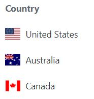 TOP THREE COUNTRIES FOLLOWING ME IN 2018 OUT OF 65