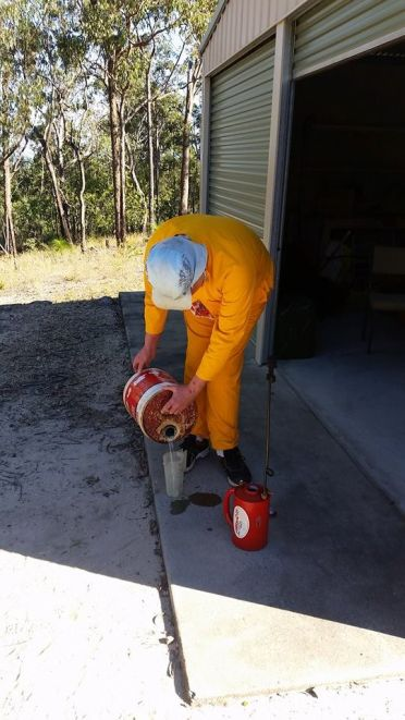 Allan Ivarsson preparing for burn 250717 001