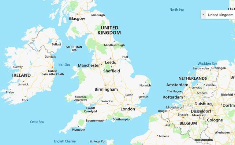 BIRMINGHAM BRITAIN 2019 MAP