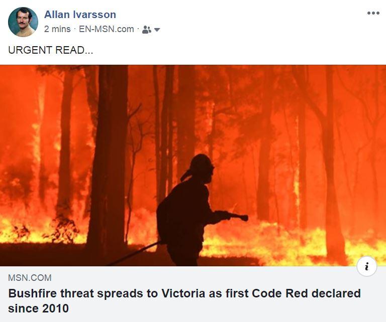 bushfire code red victoria 5 pm 211119