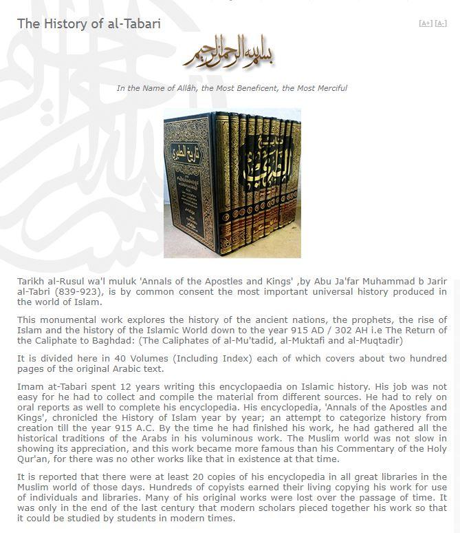 AL-TABARI HISTORY 001