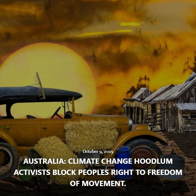 BLOG CLIMATE CHANGE HOODLUM ACTIVISTS OCT 9 2019