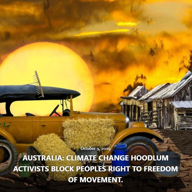 BLOG AUSTRALIA CLIMATE CHANGE HOODLUM ACTIVISTS OCT 9 2019