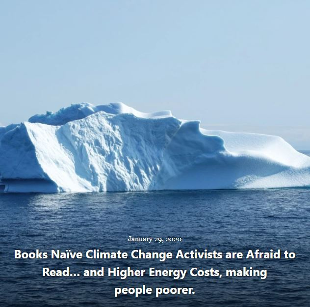 BLOG BOOKS CLIMATE CHANGE ACTIVISTS AFRAID TO READ JAN 29 2019