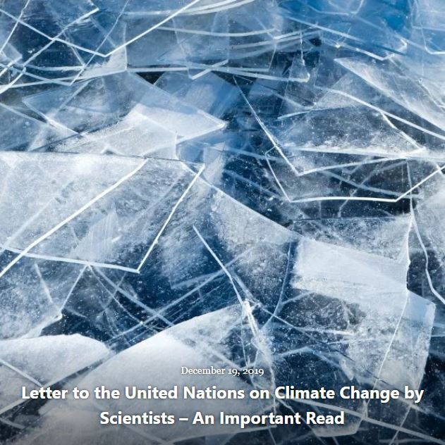 BLOG LETTER TO THE UNITED NATIONS ON CLIMATE CHANGE DEC 19 2019