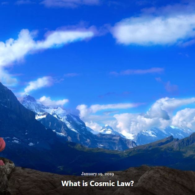 BLOG WHAT IS COSMIC LAW 2019