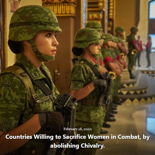 BLOG COUNTRIES SACRIFICE WOMEN IN COMBAT FEB 18 2020
