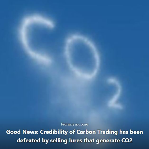 BLOG GOOD NEWS CREDIBILITY CARBON TRADING DEFEATED BY CO2 FEB 27 2020