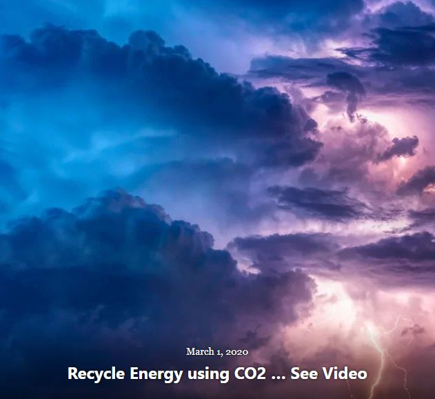 BLOG RECYCLE ENERGY USING CO2 MAR 1 2020