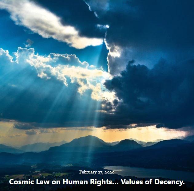 BLOG COSMIC LAW HUMAN RIGHTS DECENCY FEB 27 2020