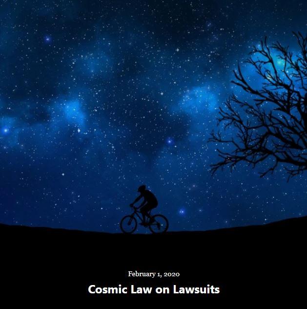 BLOG COSMIC LAW LAWSUITS FEB 1 2020