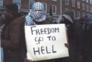 BRITAIN MUSLIM PROTEST 2010