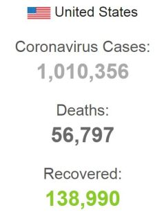 CORONA VIRUS DEATHS IN USA WORLDOMETER 280420 001