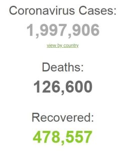 CORONA VIRUS DEATHS IN WORLD WORLDOMETER 150420 001