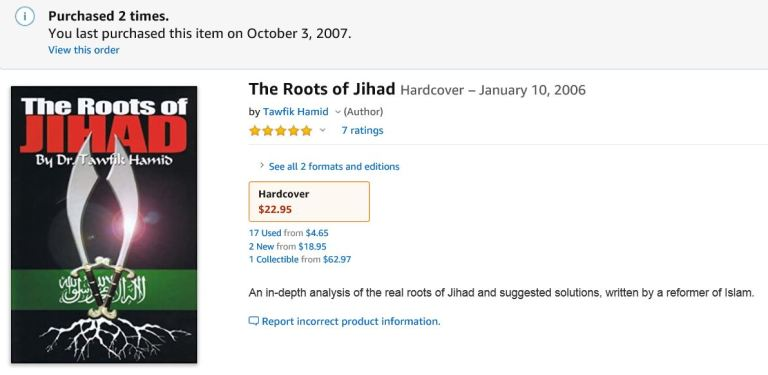 Roots of Jihad 2005 2020 RARE BOOK PRICE 002