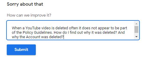 YOUTUBE DELETION QUESTION 100420 001