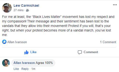 BLACK LIVES MATTER COMMENT 150620 001