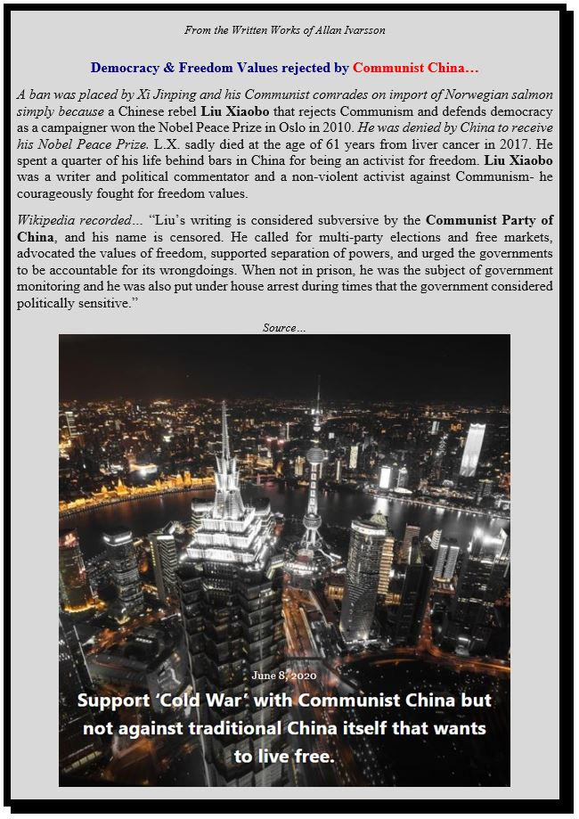 COMMUNIST CHINA VERSUS FREEDOM POSTER IMAGE 2020 002