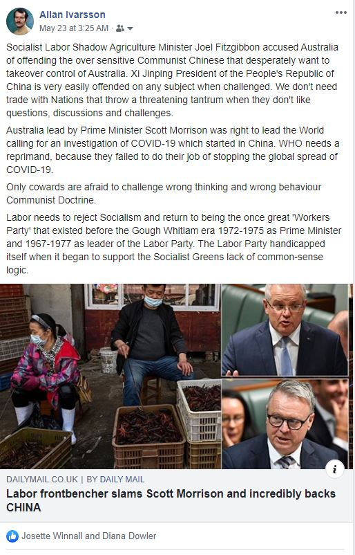 FB AUST LABOR SUPPORTS CHINA 230520 001