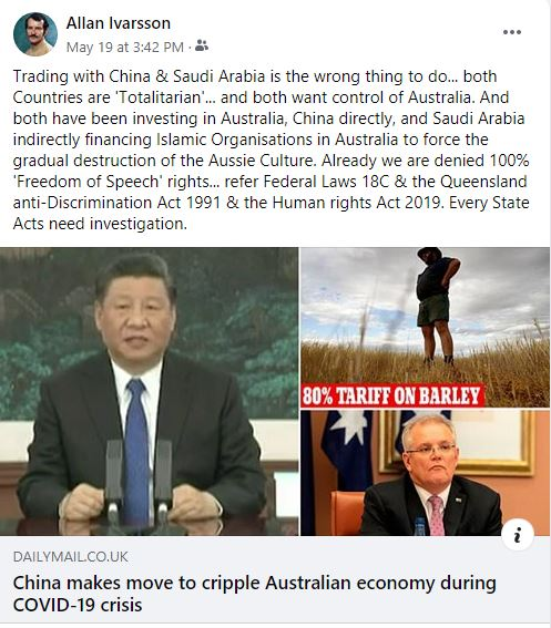 FB CHINA MAKES MOVE TO CRIPPLE AUSTRALIAN ECONOMY 190520 001